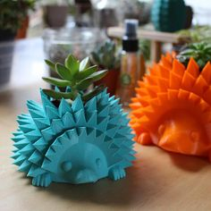 "Baby Hedgehog Pot for Succulent or Cactus, Perfect for 1.5"" Pot ~ Hedgehog Planter, Cactus Pot, Succulent Pot"