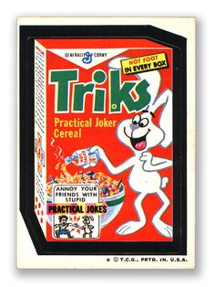 Triks Cereal - Topps Wacky Packages 5th Series 1973
