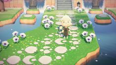 """""""I made more stepping stones so u can make cute pathways now ? how cute are the moon stones? all designs available with my creator ID Stepping Stone Pathway, Brick Pathway, Motif Acnl, Motifs Animal, Animal Crossing Game, Moon Design, Island Design, New Leaf, Pathways"""