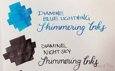 Ink Shot Preview Diamine Shimmer Inks (25)