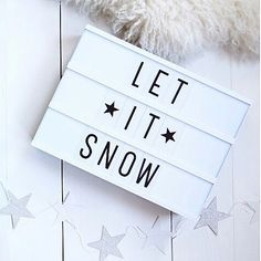 Light box - let it snow Cinema Light Box Quotes, Cinema Box, Lightbox Letters, Lightbox Quotes, Mini Lightbox, Citations Lightbox, Lead Boxes, Led Light Box, Light Board