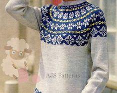 PDF Knitting Pattern for a Unisex Fair Isle por TheKnittingSheep