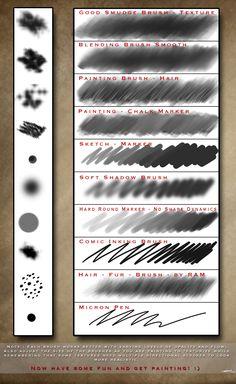 Robs Digital Painting Brush Set - Photoshop CC by ramstudios1.deviantart.com on @DeviantArt
