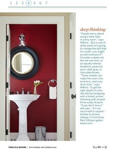 do not be afraid to put dark colors in small rooms