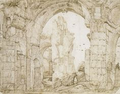 Gerard ter Borch the Elder - Ruins of the baths of Caracalla in Rome