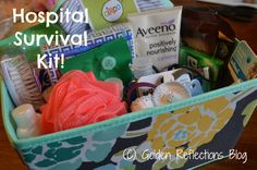 Hospital Survival Kit for new moms! Great shower gift idea!