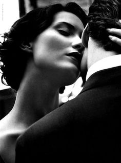 Photographed in white and black right before the kiss. Very romantic. The Kiss, Boudoir Couple, The Embrace, Romantic Moments, Hopeless Romantic, Sensual, Black And White Photography, Classic Photography, Love Story
