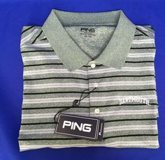 Dartmouth Mens Golf Shirt Ping Size XXL Stripe Polo Sport 2XL New With Tags  #Ping #PoloShirtGolf