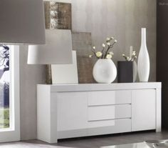 wit hoogglans dressoir kopen | Aktie wonen.nl