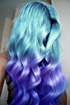 Pastel purple dip dye