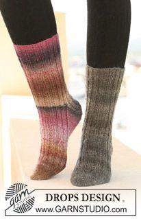 """DROPS sokker med Rib i """"Delight"""". Str 32-43. ~ DROPS Design   The best socks I've ever made..."""