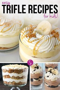 Oh my these easy trifle recipes for kids are just what we need for Holiday season. So many chocolate trifles and fruit trifles to choose from. Click on the picture to see them all.