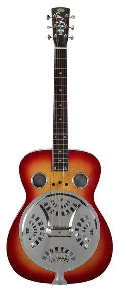 Regal RD-40V Roundneck Resophonic Guitar Cherry Sunburst