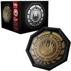This Battlestar Galactica Colonial Seal Coaster Set looks super amazing. You have to love that seal. The design is based on the original phoenix plaque that