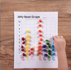 Download three math printables to use with jelly beans. Free from Simply Kinder.