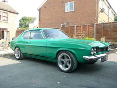 Ford capri - with a Boss Mustang engine in it. Perfect.