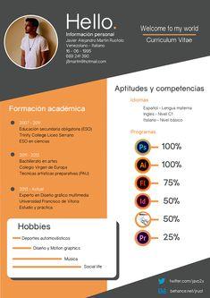 Curriculum Vitae - Welcome to my world on Behance Cv Resume Template, Resume Design Template, Portfolio Resume, Portfolio Design, Graphic Design Cv, Web Design, Conception Cv, Cv Web, Cv Inspiration