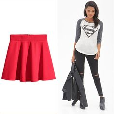 Pin for Later: 15 Supersimple, Two-Item Halloween Costumes Supergirl If you have a: red skirt (£13, reduced to £6) Add a: Superman shirt (£12)