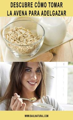 Descubre cómo tomar la avena para adelgazar Slim Fast, Keto Diet For Beginners, Detox, Breakfast, Healthy, Tableware, Food, Vintage, Fiber