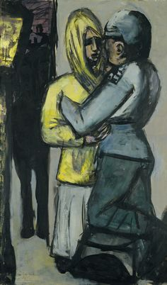 Painting by Max Beckmann, Leave-Taking, Oil on canvas, Museo Thyssen-Bornemisza, Madrid. Max Beckmann, Emil Nolde, Action Painting, Ludwig Meidner, Ww1 Art, Antoine Bourdelle, Carl Friedrich, George Grosz, New Objectivity