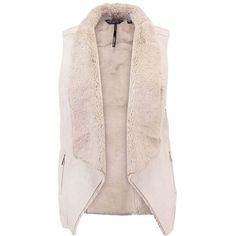 Dorothy Perkins SHEARLING Veste ❤ liked on Polyvore featuring outerwear, vests, shearling vests, vest waistcoat, pink vest, sheep fur vest and dorothy perkins
