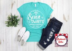 Seven Dwarfs Mining Company/Disney Shirts/Disney Shirts for Women/Disney World/Disneyland/Disney Shirt/green Disneyland Shirts, Disney Shirts, Disney Clothes, Skater Outfits, Cute Outfits, Emo Outfits, Disney Themed Outfits, Cool Shirt Designs, Disney Inspired Fashion