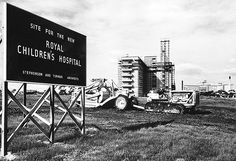 10 acres in Royal Park is designated by the government as the site for the new Children's Hospital in Time In Australia, Melbourne Australia, Melbourne Victoria, Victoria Australia, Old Pictures, Old Photos, Places In Melbourne, Royal Park, Beautiful Park