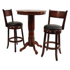 Boraam Palmetto 3 Piece Pub Table Set - Brandy - BOR135