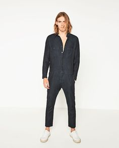 Image 1 of DENIM SPECIAL COLLECTION JUMPSUIT from Zara