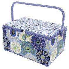 SEWING BASKET - EXTRA LARGE RECTANGLE | Birch Creative Sewing Baskets, Craft Kits, Pin Cushions, Birch, Decorative Boxes, Creative, Crafts, Manualidades, Handmade Crafts