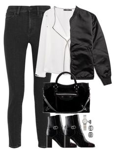 """Unbenannt #2174"" by luckylynn-cdii ❤ liked on Polyvore featuring Madewell, MANGO, Chanel, Acne Studios, Balenciaga, Christian Dior and LULUS"