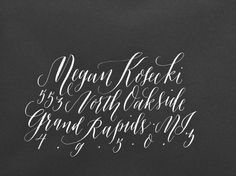 Envelope Calligraphy // molly jacques