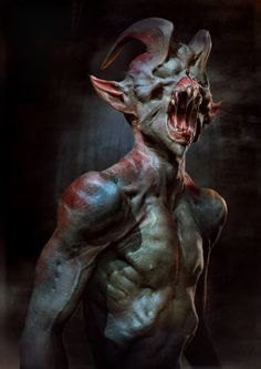 This is what the demon in the lake looks like. He's the one that pulls people under the water and drowns them. After he does that he writes there names in a rock next to the lake.