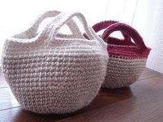 ミニ麻糸バックの作り方