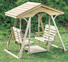 1GL - Tradition Lawn Glider w/ Shingle Roof| Gliders | Gazebo Depot