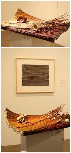 Floral Designer: Yoko Ishii Klingebeil. Art Piece: Dorothy Napangardi, Sandhills