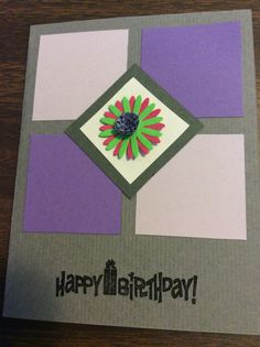 "JMH-Happy birthday card. Could be stamped with ""Get Well"" or ""Congratulations"" or other messages."
