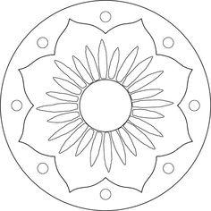 """""""Lotus flower"""" mosaic pattern"""