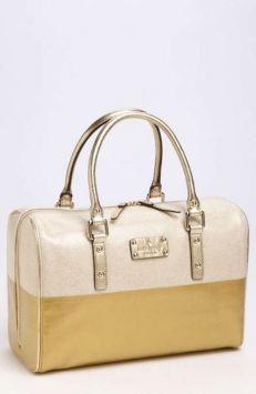 Kate Spade Natural/gold Tote Bag $100