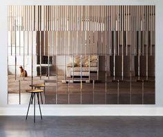 'AKollection' mirror wall panels by Afroditi Krassa