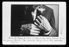 Soon he began to wear a rose in his lapel, because it was her favorite flower. Her favorite things became his favorite things. -Duane Michals