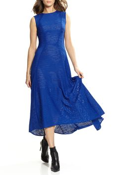 Casual or party dress in a lovely shade of royal blue