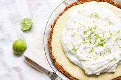 Key lime pie using egg yolks -Tart and not too sweet, rich and creamy, with a salted graham cracker crust—this is absolutely the best key lime pie I've ever tasted. Before I completely jump into the pie-lovin', I ha… Best Eclairs Recipe, Eclair Recipe, Keylime Pie Recipe, Frozen Key Lime Pie, Best Key Lime Pie, Key Lime Pie Recipe Video, Base Recipe, Just Desserts, Delicious Desserts