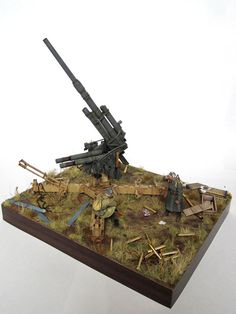 Russian Gun 1/35 Scale Model Diorama
