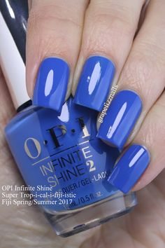 I have the brand new OPI Infinite Shine Fiji Collection for Spring/Summer 2017 to show you today! Sns Nails Colors, Nail Polish Colors, Blue Nails, Nail Polish Designs, Nail Designs, Nails Opi, Stiletto Nails, Fall Acrylic Nails, Fancy Nails