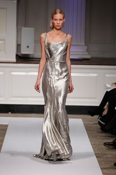 Silverness Jason Wu long metallic dress