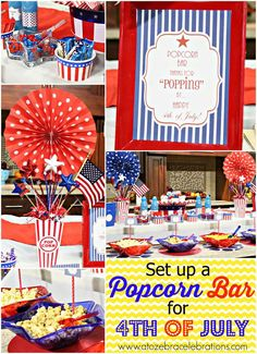 4th of July Popcorn Bar | CatchMyParty.com