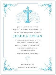 Confirmation Invitations Templates Free Confirmation Invitations And Turquoise On Pinterest Confirmation Invitations Invitations Confirmation Cards