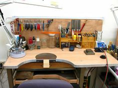 My New Studio by inbarbareket Workshop Studio, Studio Setup, Studio Ideas, Jewelers Workbench, Jewellers Bench, Studio Organization, Dream Studio, News Studio, Studio Studio