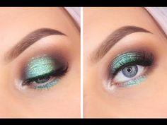 Pop of Color - Halo Eye Makeup Tutorial Halo Eye Makeup, Eye Makeup Cut Crease, Makeup Tutorial Eyeliner, Applying Eye Makeup, Eye Makeup Art, Natural Eye Makeup, Eyeshadow For Blue Eyes, Makeup For Green Eyes, Blue Makeup